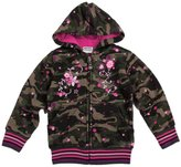 Tiful Little Girls Spring Fall Winter Long Sleeve Lapel Soft Printing Camouflage Hooded Cotton Jacket