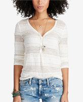 Denim & Supply Ralph Lauren Lace Henley Top