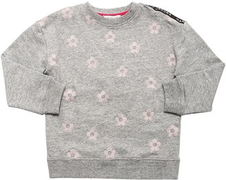 Little Marc Jacobs DAISY EMBROIDERED COTTON SWEATSHIRT