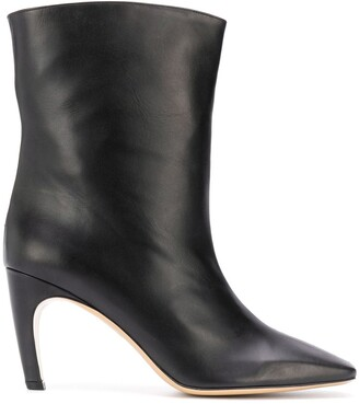 Gia Couture Atena square-toe ankle boots