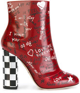 Dolce & Gabbana graffiti ankle boots