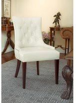 Safavieh En Vogue Dining Nimes Cream Leather Side Chair