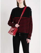 The Kooples Striped button-detail cashmere jumper