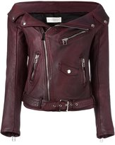 Faith Connexion 'Sailor' biker jacket - women - Leather/Viscose - 38