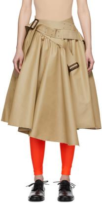 Junya Watanabe Beige Voluminous Trench Skirt
