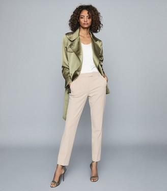 Reiss INDIA SATIN JACKET Khaki