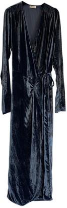 ATTICO Blue Velvet Dresses