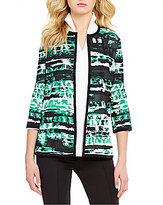 Misook Jewel Neck 3/4 Sleeve Jacket
