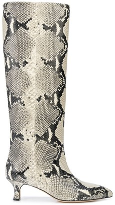 Paris Texas Embossed Snakeskin-Effect Boots