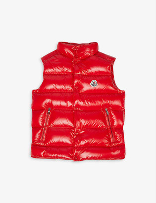 Moncler Padded logo-embroidered shell-down gilet 4-14 years
