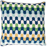 Jonathan Adler Embroidered Wool Pillow