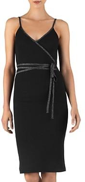 ATM Anthony Thomas Melillo Metallic Accent Wrap Dress