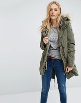 Tommy Hilfiger Parka Jacket with Faux Fur Lining
