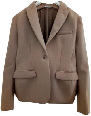 Miu Miu Camel Wool Jackets