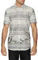 Point Zero Horizontal Abstract Print Sportshirt