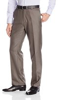 Kenneth Cole Reaction Men's Sharkskin Slim-Fit Flat-Front Pant