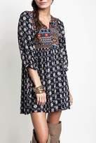 Umgee USA Navy Peasant Dress