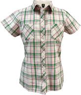 John Deere Green & Pink Plaid Button-Up