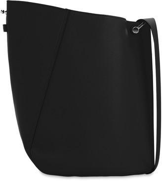 Lanvin Medium Asymmetrical Leather Bucket Bag