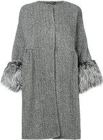 Ermanno Scervino fur cuffs coat