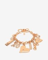 White House Black Market Valentine's Day Rose Gold Charm Bracelet