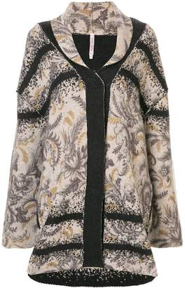 Antonio Marras floral knitted coat
