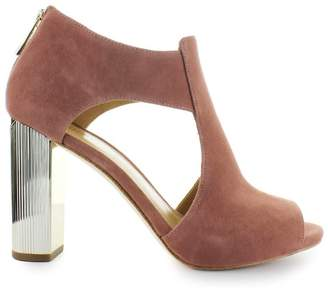 Michael Kors Paloma Pink Suede Open Toe Sandals