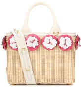 Prada Embellished wicker basket