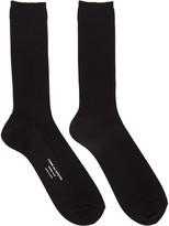 Comme des Garcons Black Basic Rib Socks