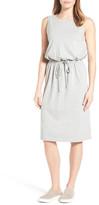 Caslon Sleeveless Cotton Blend Knit Drawstring Waist Dress (Regular & Petite)