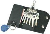 MuLier Genuine Leather Key Wallet Key Holder/Case 6 Hooks Keyring Case