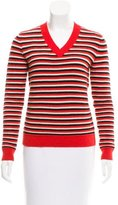 Jonathan Saunders Striped Long Sleeve Sweater