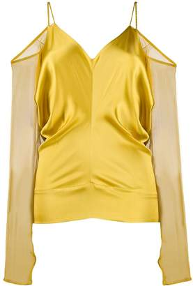 Jean Paul Gaultier Pre-Owned 1980s draped cold-shoulder top