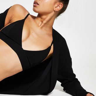 River Island Womens Black v neck bralet top
