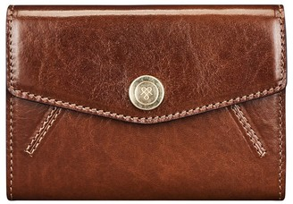 Maxwell Scott Bags Womens Quality Italian Leather Small Purse In Tan Brown