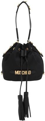 Moschino Logo Nylon Bucket Bag