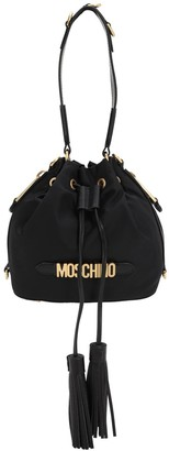 Moschino LOGO NYLON BUCKET BAG