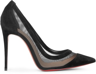 Christian Louboutin Galativi 100 black suede pumps