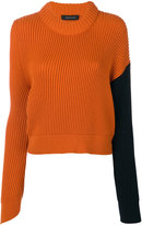 Cédric Charlier ribbed cropped jumper - women - Virgin Wool - 38