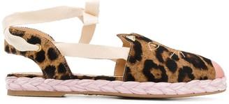 Charlotte Olympia Kitty leopard-print espadrilles