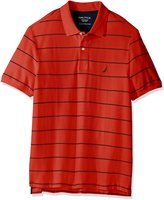 Nautica Men's Big and Tall Short Sleeve Striped Deck Polo Shirt