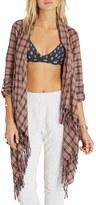 Billabong 'Liv It Up' Open Flannel Cardigan