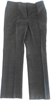 Incotex Anthracite Wool Trousers for Women