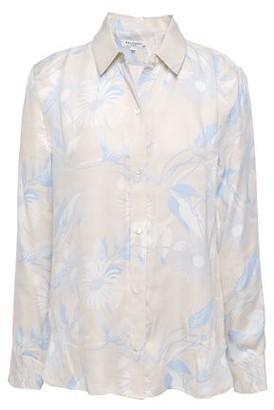 Equipment Leema Floral-print Washed Silk-blend Shirt