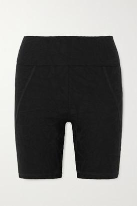 Twenty Montreal Pollock 3d Active Stretch Jacquard-knit Shorts - Black