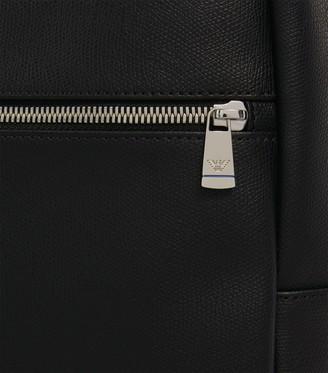 Emporio Armani Leather Eagle Backpack