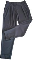 BOSS Khaki Wool Trousers for Women