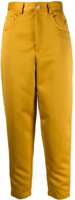 Just Cavalli cropped monogram trousers