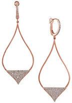 Effy Pave Rose Ogee Drop Earrings