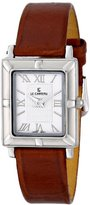 Le Château Women's 3635AL_LEA_WHT Darvesi-Roman Collection All steel Leather Band Watch